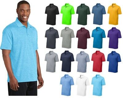 New Sport-Tek® Men's Golf 3 Button Polo Dry Fit Sweat Wicking Shirt XS-4XL