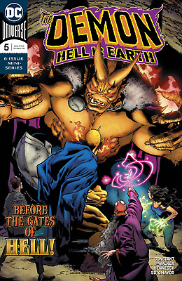 The Demon #5 Hell Is Earth Main Cover DC comics 1st Print!