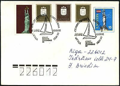 Latvia 1992 Grand Regatta Sailing H/S Cover #C45060