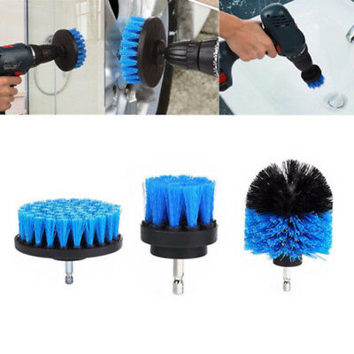 3PCS Tile Grout Power Scrubber Cleaning Drill Brush Tub Cleaner Combo Set