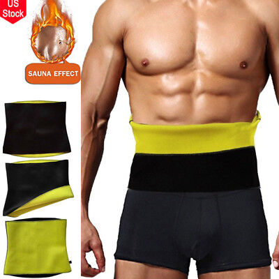 S Mens Gym Sauna Sweat Suit Body Shaper Belly Tummy Trimmer Slimming Shirt Vest*