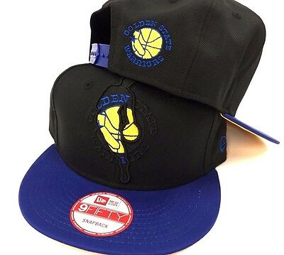 separation shoes 8a286 2fbce Golden State Warriors New Era 9Fifty NBA Logoman Mens Snapback Fit Cap Hat