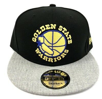 finest selection 453d0 302da Golden State Warriors New Era Heather Black 2Tone 950 Snapback Hat Cap