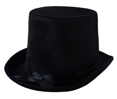 Lincoln Black Top Hat Victorian Gentleman Ring Master Costume Hat