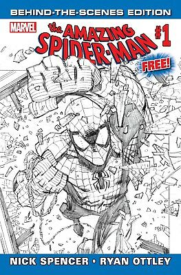 AMAZING SPIDERMAN 1 vol 5 GIVEAWAY PROMO BEHIND THE SCENES VARIANT NM
