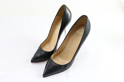 pretty nice 422b6 9b8fd CHRISTIAN LOUBOUTIN SLENDER So Kate Black Leather Silhouette Heel Shoes  Size 40