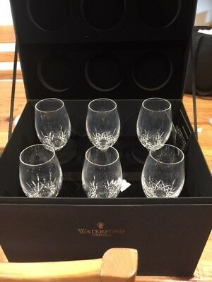 Waterford Crystal White Wine Glasses Set of Six