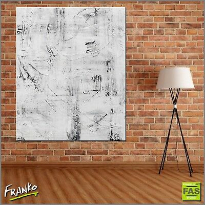 White Minimalist Abstract Art Painting Textured 120cm x 100cm Franko Australia