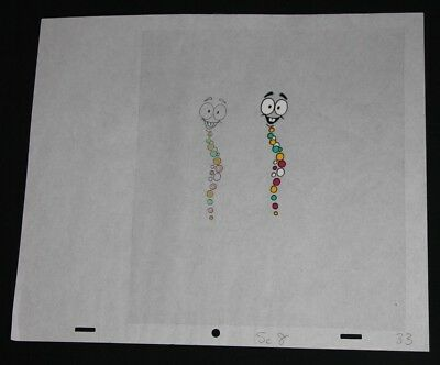 Jurassic Park Animation Cell Mr DNA Matching Cartoon Drawing and Cell Sc8 33