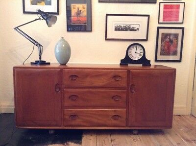 Ercol windsor model 455 golden dawn elm sideboard vintage mid century 1960s