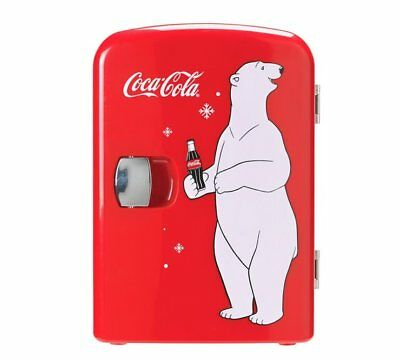 Coke Mini Fridge With Bear Is A Classic Must-Have Accessory Perfect For CocaCola