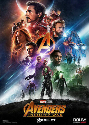 Brand New Movie Poster Print: Avengers Infinity War  A3 / A4