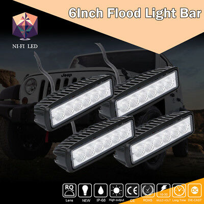 "4X 6""Inch LED Cube Work Light Bar Square Pod UTV Truck Tractor Offroad Boat"