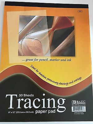 30 Large Sheets Tracing Paper Sketch Overlay Pad