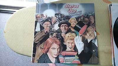 STATUS QUO -- WAT EVER YOU WANT & ON THE LEVEL Vinyl Original