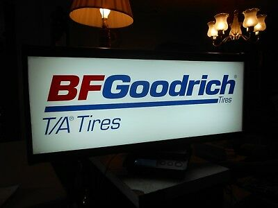 "B.F.GOODRICH Tires sign 19' x12-3/4"" x 4""."
