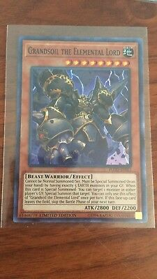 1X NM Grandsoil the Elemental Lord - FLOD-ENSE1 - Super Rare Limited Edition