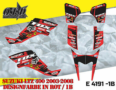 Motostyle Mx Dekor Kit Atv Suzuki Ltz 400 2003-2008 Graphic Kit Fox E4191 B