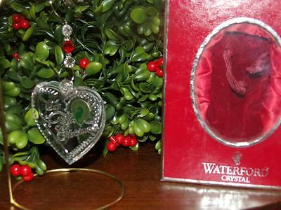 Waterford Crystal Heart Our First Christmas Ornament nib 2008 STUNNING IRELAND