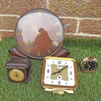 4 Clocks For Spares Or Repair - Clock Parts