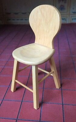 Breakfast Bar Chair, Dolls House Miniature Furniture, 1.12 Scale