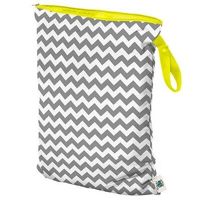 New Planet Wise Cloth Diapers Reusable Wet Bags Size Large Gray Chevron