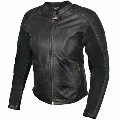 Vulcan NF-8197W (XL-3XL) Womens Black Leather Level-3 Armored Motorcycle Jacket