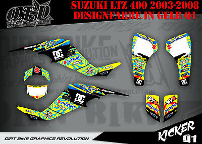 Scrub Dekor Kit Atv Suzuki Ltz 400 2003-2008 Graphic Kit Kicker B