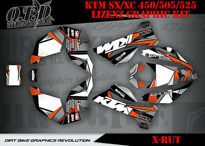Scrub Dekor Kit Atv Ktm Sx Xc 450 / 505 / 525 Lizenz Graphic Kit X-Rut Ktm B