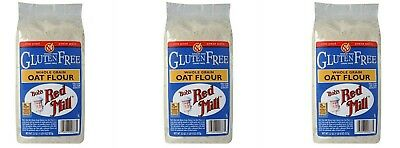 3  PACK  OF  Bob's Red Mill, Whole Grain Oat Flour, Gluten Free, 22 oz