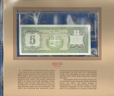 Most Treasured Banknotes Aruba 5 Florins 1986 P1 Gem UNC