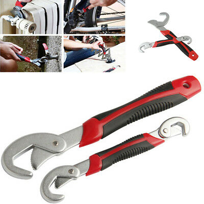 2Pcs Multi-function Adjustable Spanner Wrench Set Repair Hand Tool Kit Universal