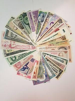 Uncirculated Lot of 10 Different Foreign PAPER MONEY BANKNOTES WORLD CURRENCY