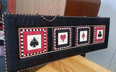 Ace King Queen Jack GORGEOUS wall hanging Cards Bridge Poker - NEEDLEPOINT