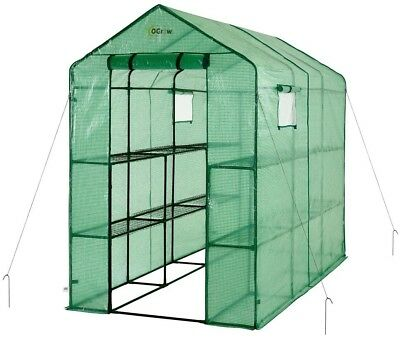 Ogrow Greenhouse Portable Lawn Garden Heavy Duty Walk In 2 Tier 12 Shelf New