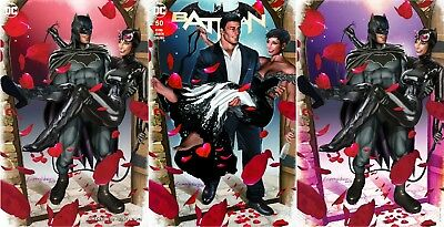 Batman 50 Comicxposure Greg Horn Exclusive 3 Pack Virgin Variant Set Nm