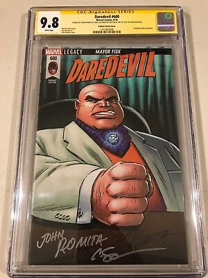 Daredevil 600 Classic Variant Cgc 2X Ss 9.8 Signed John Romita And Soto 1St Day