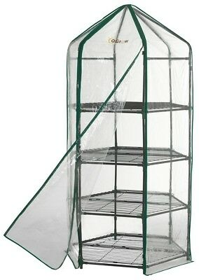 Ogrow Flower Planthouse Ultra Deluxe 4 Tier Shelving Hexagonal Outdoor Garden