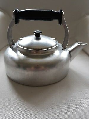 Vintage Swan Brand 3 Pint Stove Top Kettle - Ideal for Aga - aluminium