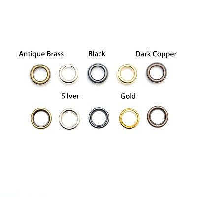 Loose Eyelets in 5 Colours and 5 Sizes - 100 Per Pack