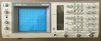 Fluke/Philips PM 3065 - 100 MHz Dual Time Base Oscilloscope + 2x 100 MHz Probes
