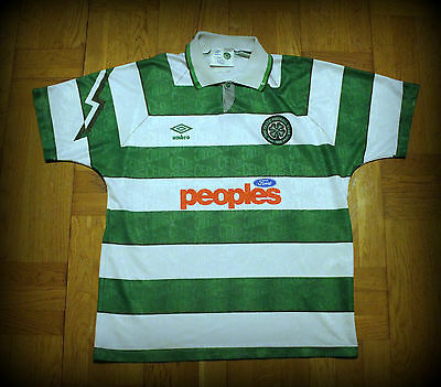 Celtic Glasgow Umbro shirt maglia 1991/1992 L Very Good Conditions