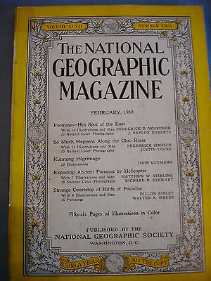 National Geographic- Feb 1950 - Formosa - Ohio river - Kunming - Panama