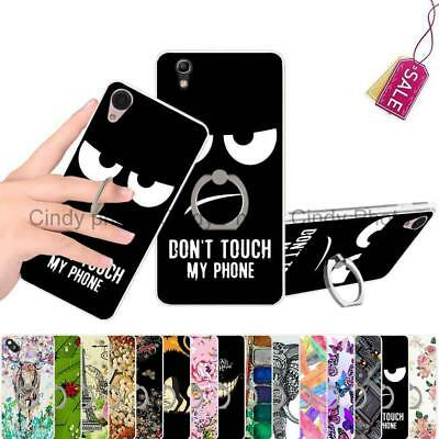 For BlackBerry DTEK50 Neon Kickstand Ring Hard Case Cover Butterfly Rose Deer
