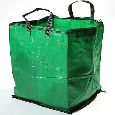 120L Strong Heavy Duty Large Garden Waste Bags Refuse Rubble Sacks with Handles