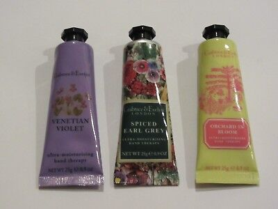 Crabtree & Evelyn Hand Therapy 3 x 25g - 3 x Limited Editions - Brand New & Rare