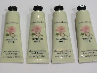 Crabtree & Evelyn Hand Therapy - 4 x 25g = 100g - SUMMER HILL - New