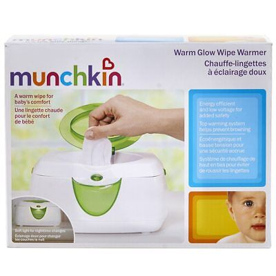 Munchkin Warm Glow Wipe Warmer Baby Wipe Warmer Green Model 10049 NIB