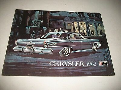 1962 Chrysler Deluxe Sales Brochure Canadian New Yorker Saratoga  Wndsor