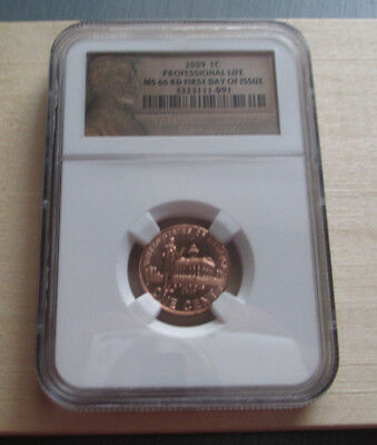 2009 P Lincoln PROFESSIONAL LIFE First Day Issue NGC Certified MS 66 RD Cent